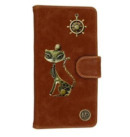 MP Case Mystiek hoesje Apple iPhone 5 5S SE Kat Bruin