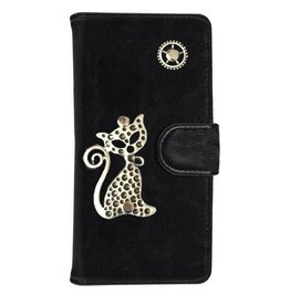 MP Case Mystiek hoesje Samsung Galaxy J3 (2016) Kat Zwart