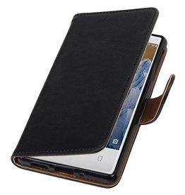 Lelycase Nokia 3 hoesje bookcase vintage lederlook Zwart