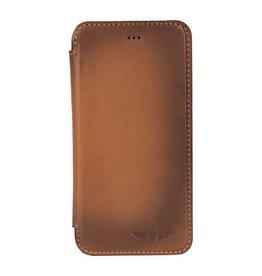 Galata Ultra book case iPhone 6(s) Plus echt leer taba bruin