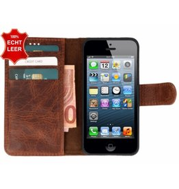 Galata Book case iPhone 5 / 5s / SE vintage echt leer