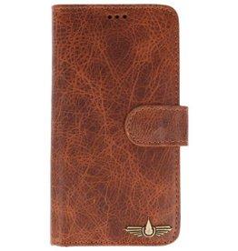 Galata Book case iPhone X echt leer cognac bruin