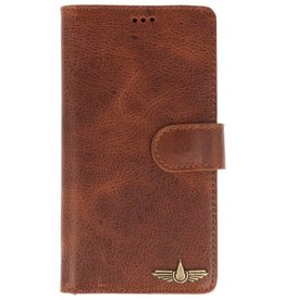 Galata Book case Samsung Galaxy A5 (2017) echt leer cognac bruin