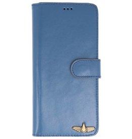 Galata Wallet case Samsung Galaxy Note 8 cover echt leer LeiBlauw