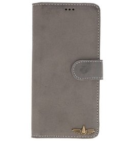 Galata Wallet case Samsung Galaxy Note 8 cover echt leer grijs