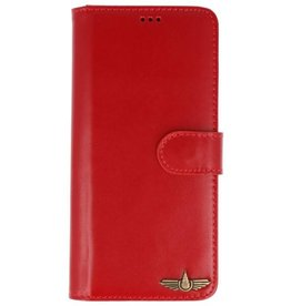 Galata Wallet case Samsung Galaxy Note 8 cover echt leer rood