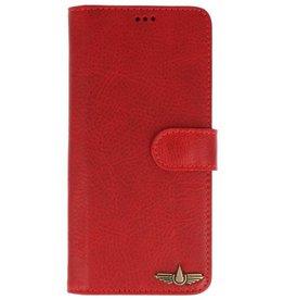 Galata Wallet case Samsung Galaxy Note 8 cover echt leer antiek rood