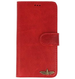 Galata Book case iPhone X cover echt leer vintage rood