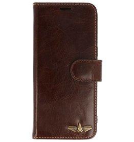 Galata Wallet case Samsung Galaxy S8 cover echt leer notenbruin
