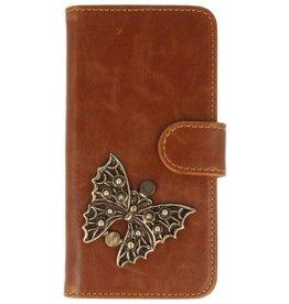 MP Case Motorola Moto G5 Plus bruin hoesje vlinder brons