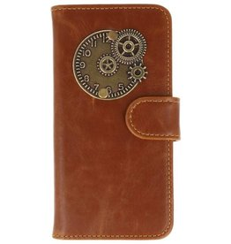 MP Case Motorola Moto G5S bruin hoesje klok  brons