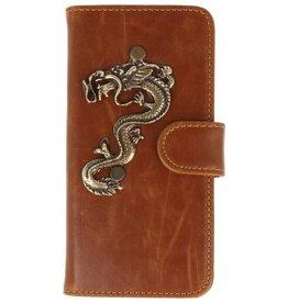 MP Case Sony Xperia XZ Premium bruin hoesje draak brons