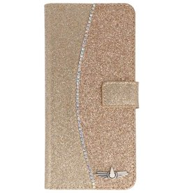 Galata Glitter bookcase Samsung Galaxy S8 Plus goud