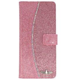 Galata Glitter bookcase Samsung Galaxy Note 8 roze