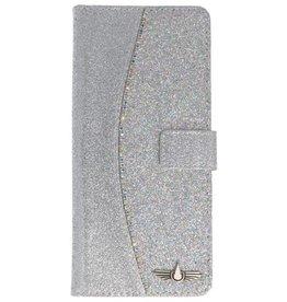 Galata Glitter bookcase Samsung Galaxy Note 8 zilver