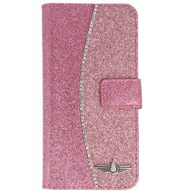 Galata Glitter bookcase Apple iPhone 8 / 7 roze