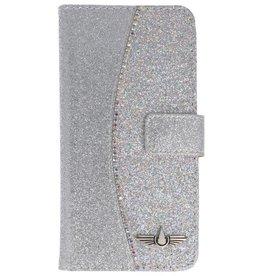 Galata Glitter tpu bookcase Apple iPhone X zilver