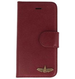 Galata Genua leder iPhone 5 / 5s / SE hard case bordeaux