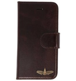 Galata Genua leder iPhone 5 / 5s / SE hard case dark brown
