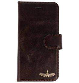 Galata Genua leder iPhone 8 / 7 hard case dark brown