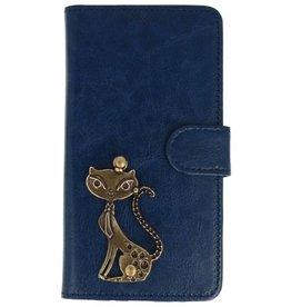 MP Case Samsung Galaxy J5 (2017) blauw hoesje kat brons
