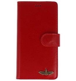 Galata Book case Samsung Galaxy A5 (2017) vintage echt leer rood