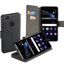 MP Case MP Case zwart book case style voor Huawei P10 Lite / Lite Dual wallet case