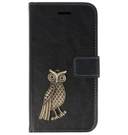 MP Case Samsung Galaxy A5 (2018) hoesje lange uil brons