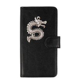 MP Case LG Q8 hoesje draak zilver