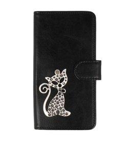 MP Case Sony Xperia XA1 Plus hoesje poesje zilver