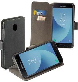MP Case Zwart book case style voor Samsung Galaxy J3 2017 wallet case