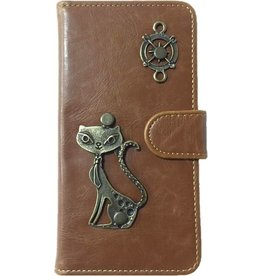MP Case Mystiek bookcase Samsung Galaxy S9 PU Leder bruin kat