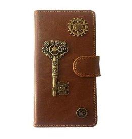 MP Case Mystiek bookcase Samsung Galaxy S9 PU Leder bruin Key