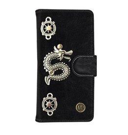 MP Case Mystiek bookcase Samsung Galaxy S9 PU Leder zwart Draak