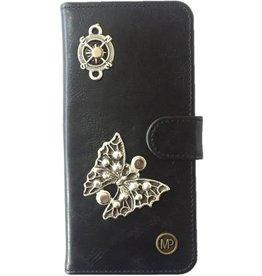 MP Case Mystiek bookcase Samsung Galaxy S9 PU Leder zwart  Vlinder