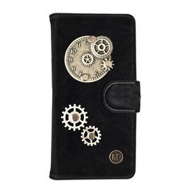 MP Case Mystiek bookcase Samsung Galaxy S9 PU Leder zwart  Klok