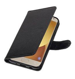 Lelycase Samsung Galaxy J7 (2017) Basis TPU bookcase zwart