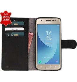 Galata Slim Book case Samsung Galaxy J3 (2017) echt leer zwart