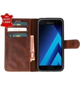 Galata Book case Samsung Galaxy J3 (2017) echt leer cognac bruin