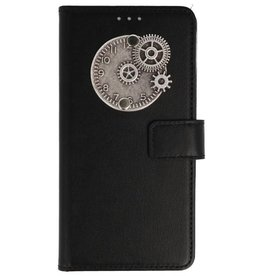 MP Case Huawei P Smart bookcase klok zilver
