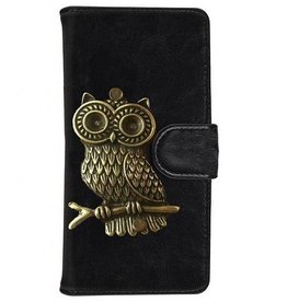 MP Case Huawei P20 Lite bookcase uil brons