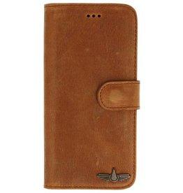 Galata Book case Samsung Galaxy S9+ (Plus) echt leer camel bruin