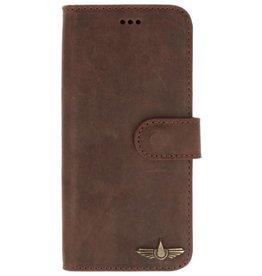 Galata Book case Samsung Galaxy S9+ (Plus) echt leer antiek bruin
