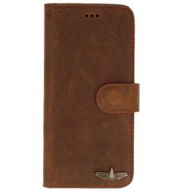 Galata Book case Samsung Galaxy S9+ (Plus) echt leer vintage roestbruin