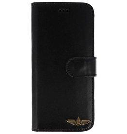Galata Book case Samsung Galaxy S9+ (Plus) echt leer zwart