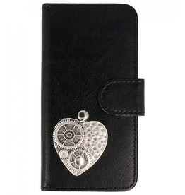 MP Case Huawei P20 Lite bookcase hart zilver