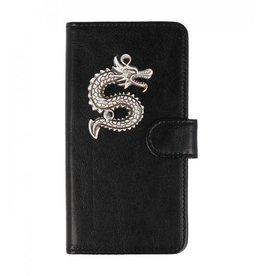 MP Case Huawei P20 Lite bookcase draak zilver