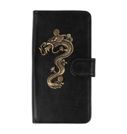MP Case Nokia 6 2018 bookcase draak groot brons