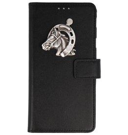 MP Case Nokia 6 2018 bookcase paard zilver