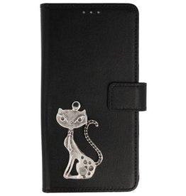 MP Case Nokia 6 2018 bookcase poesje zilver